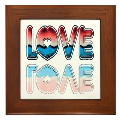 Valentine Love Framed Tile