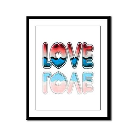 Valentine Love Framed Panel Print