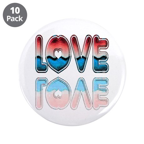 "Valentine Love 3.5"" Button (10 pack)"