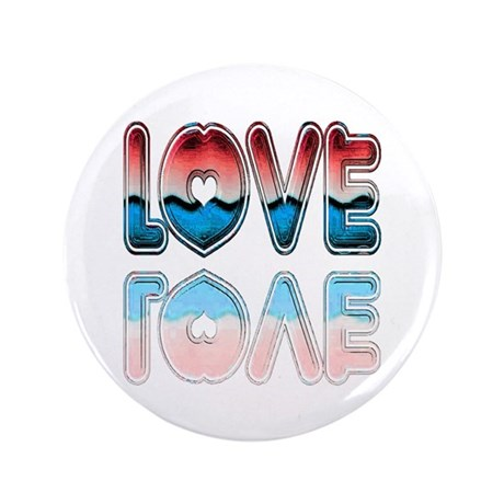 "Valentine Love 3.5"" Button"