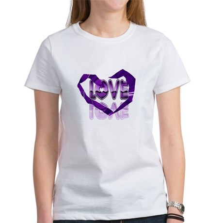 Abstract Love Heart Women's T-Shirt