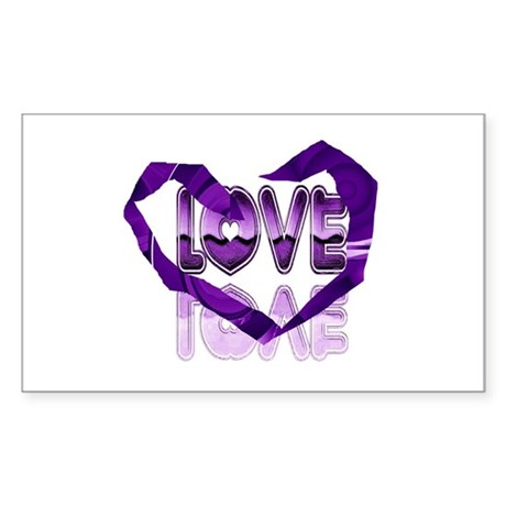 Abstract Love Heart Rectangle Sticker