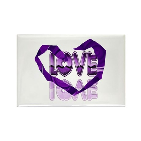 Abstract Love Heart Rectangle Magnet (100 pack)