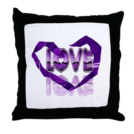 Abstract Love Heart Throw Pillow