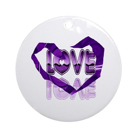 Abstract Love Heart Ornament (Round)