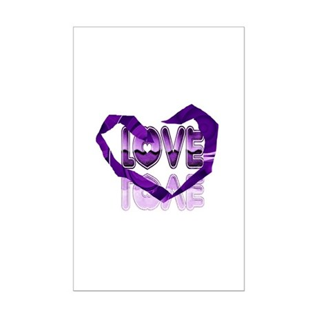 Abstract Love Heart Mini Poster Print