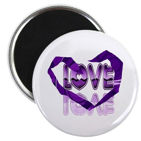 "Abstract Love Heart 2.25"" Magnet (10 pack)"