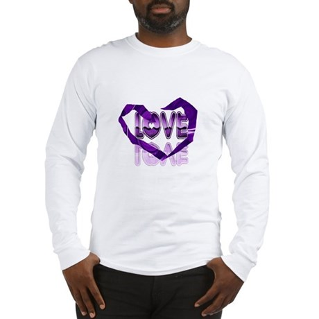 Abstract Love Heart Long Sleeve T-Shirt