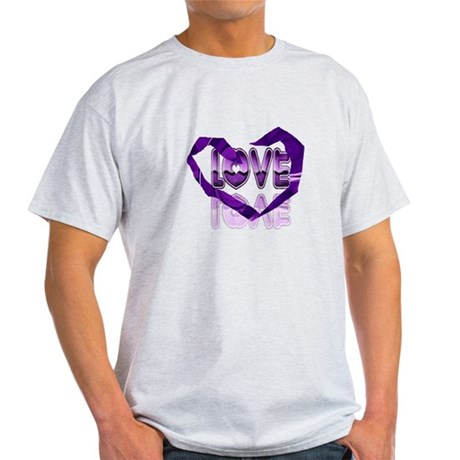 Abstract Love Heart Light T-Shirt