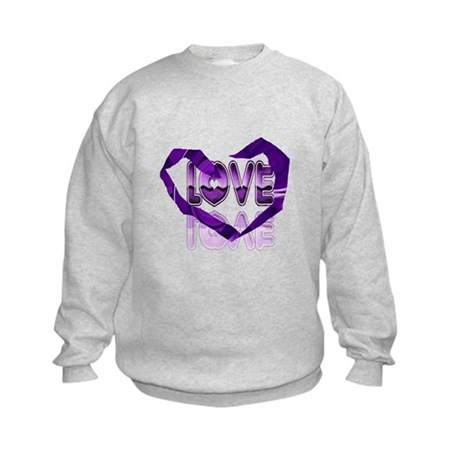 Abstract Love Heart Kids Sweatshirt