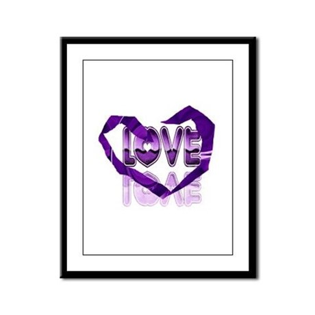 Abstract Love Heart Framed Panel Print