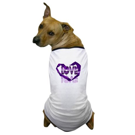 Abstract Love Heart Dog T-Shirt