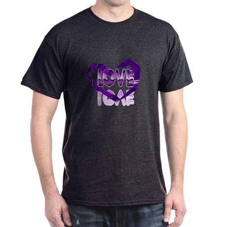 Abstract Love Heart Dark T-Shirt