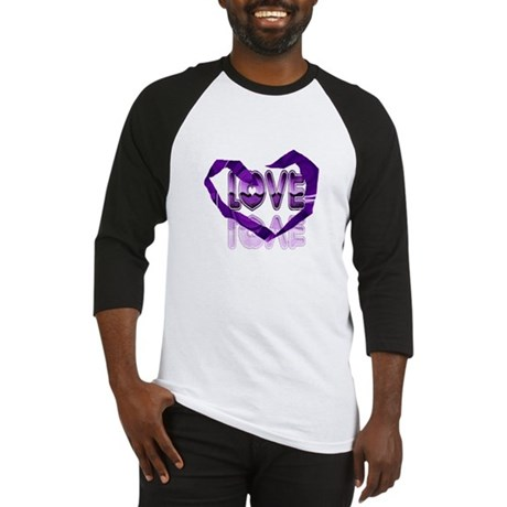 Abstract Love Heart Baseball Jersey