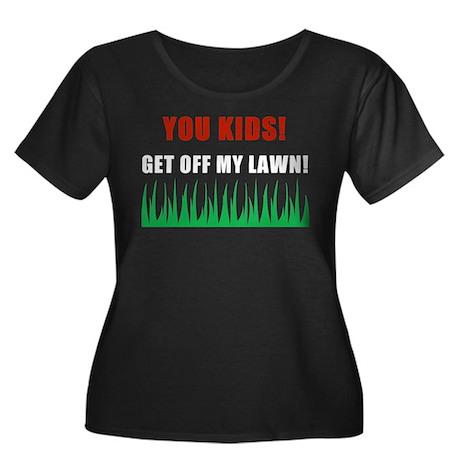 You Kids Get Off My Lawn Women's Plus Size Scoop N
