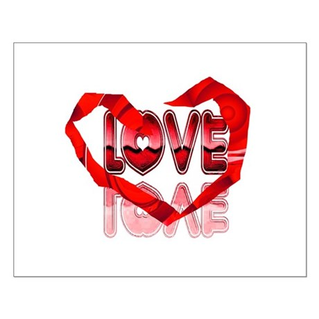 Abstract Love Heart Small Poster
