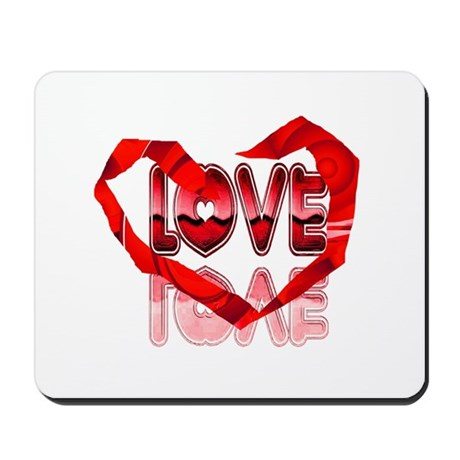 Abstract Love Heart Mousepad