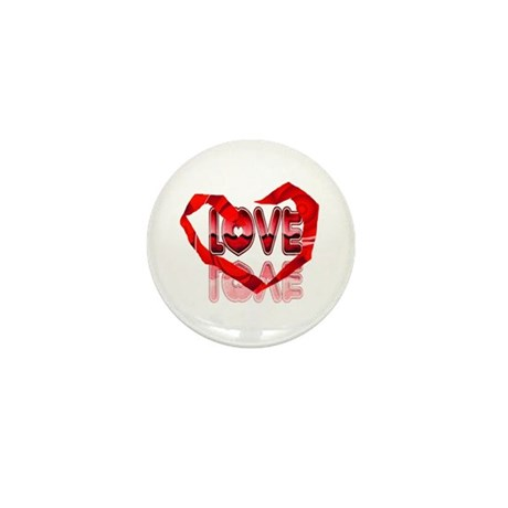 Abstract Love Heart Mini Button (10 pack)
