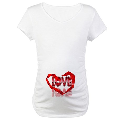 Abstract Love Heart Maternity T-Shirt