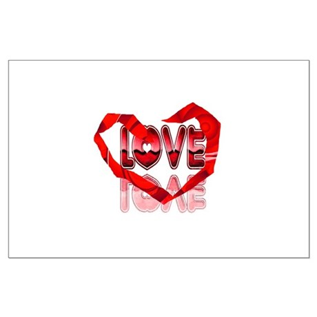 Abstract Love Heart Large Poster
