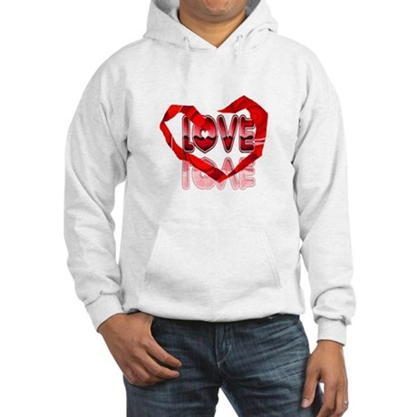 Abstract Love Heart Hooded Sweatshirt
