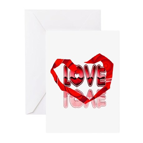 Abstract Love Heart Greeting Cards (Pk of 20)