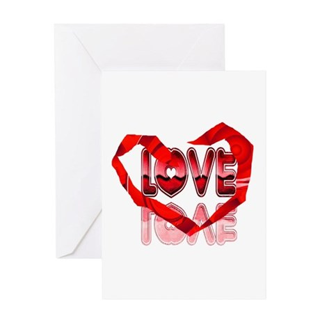 Abstract Love Heart Greeting Card