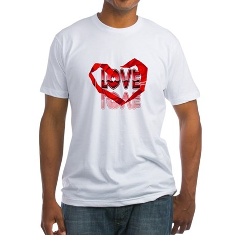 Abstract Love Heart Fitted T-Shirt