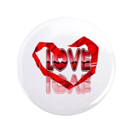 "Abstract Love Heart 3.5"" Button"