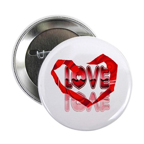 "Abstract Love Heart 2.25"" Button (10 pack)"