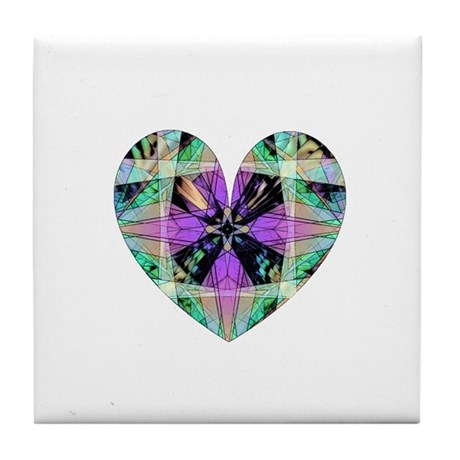Kaleidoscope Heart Tile Coaster