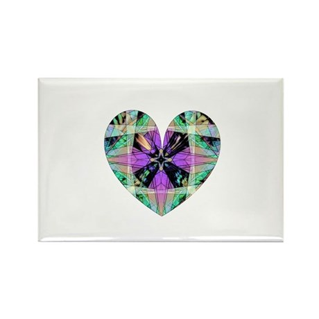 Kaleidoscope Heart Rectangle Magnet