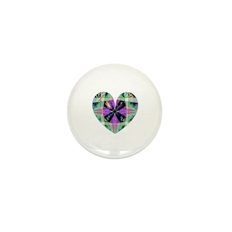Kaleidoscope Heart Mini Button (10 pack)