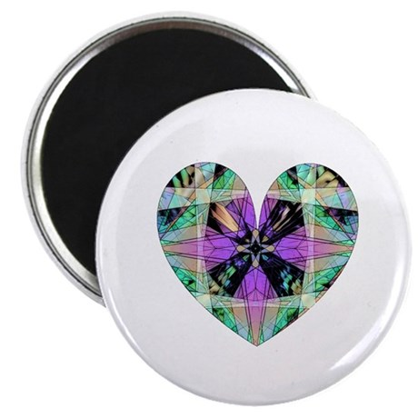 "Kaleidoscope Heart 2.25"" Magnet (10 pack)"