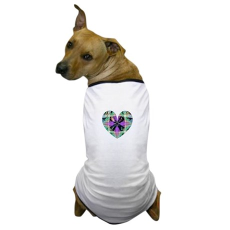 Kaleidoscope Heart Dog T-Shirt