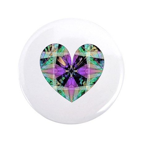 "Kaleidoscope Heart 3.5"" Button"