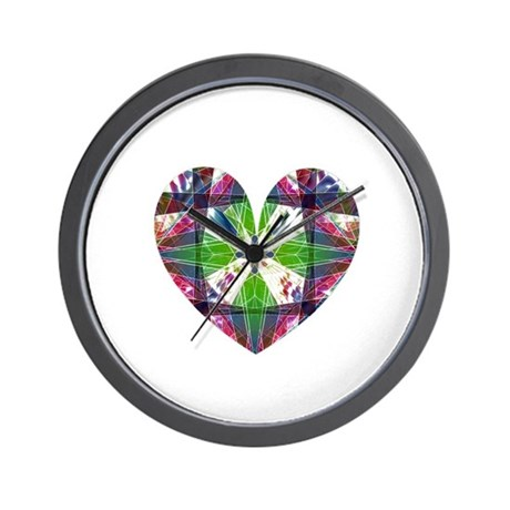 Kaleidoscope Heart Wall Clock