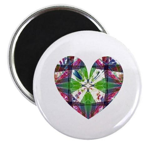 "Kaleidoscope Heart 2.25"" Magnet (100 pack)"