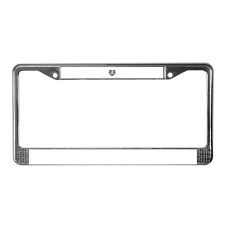 Kaleidoscope Heart License Plate Frame
