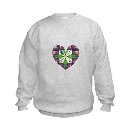Kaleidoscope Heart Kids Sweatshirt