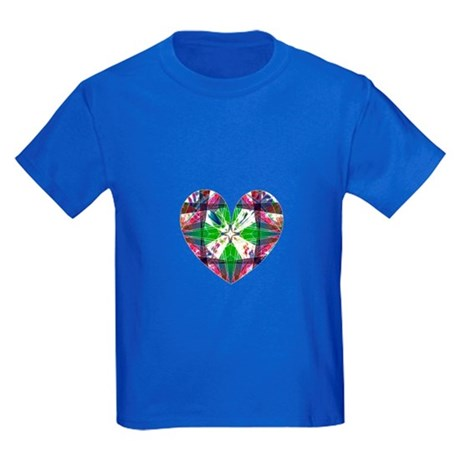 Kaleidoscope Heart Kids Dark T-Shirt