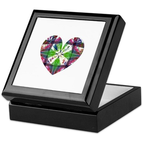 Kaleidoscope Heart Keepsake Box