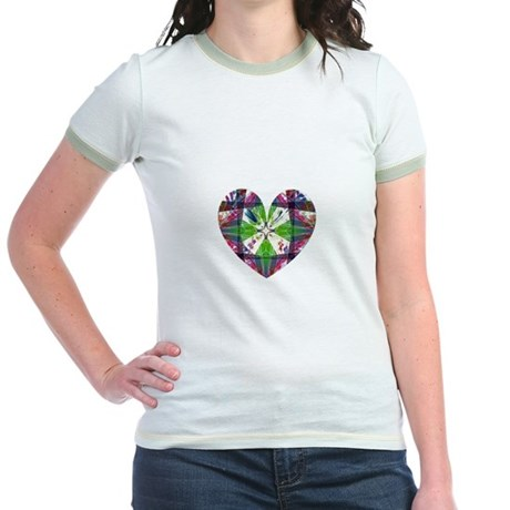 Kaleidoscope Heart Jr. Ringer T-Shirt