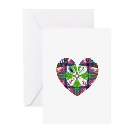 Kaleidoscope Heart Greeting Cards (Pk of 20)