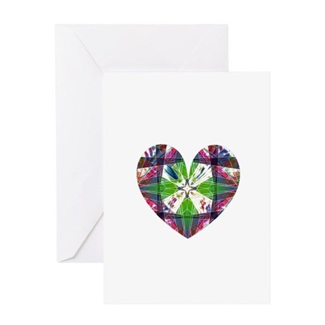 Kaleidoscope Heart Greeting Card