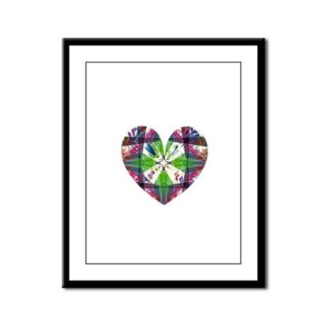 Kaleidoscope Heart Framed Panel Print