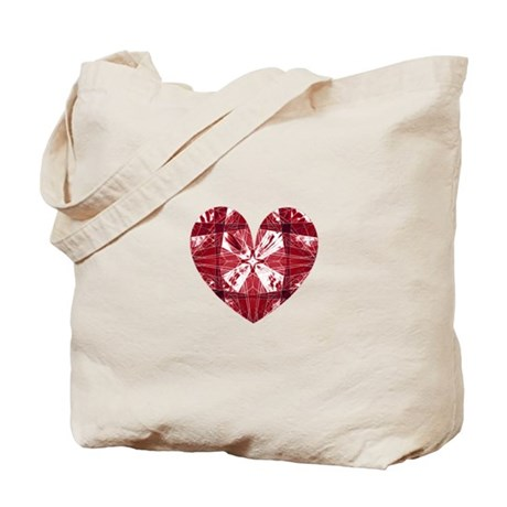Kaleidoscope Heart Tote Bag