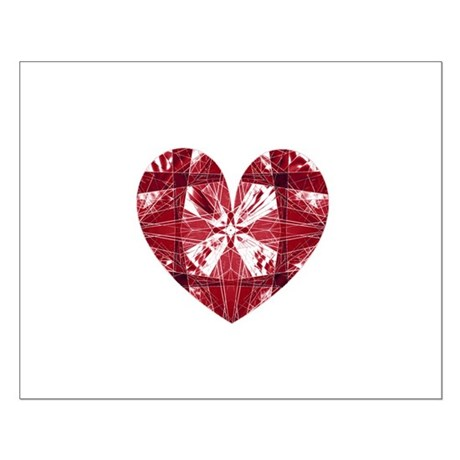 Kaleidoscope Heart Small Poster