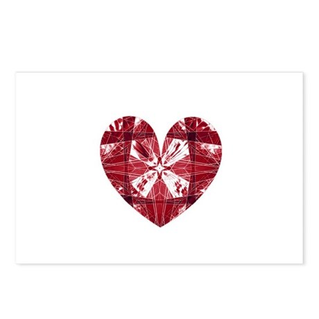 Kaleidoscope Heart Postcards (Package of 8)
