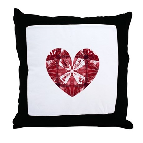 Kaleidoscope Heart Throw Pillow